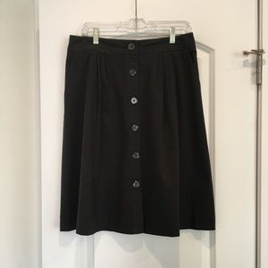 Trina Turk Black Button Up Skirt